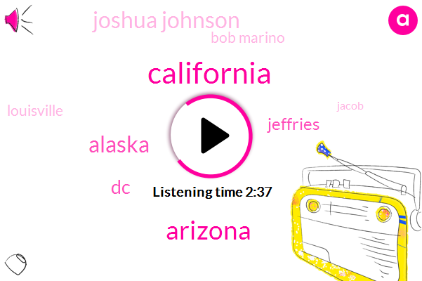 California,Arizona,Alaska,DC,Jeffries,Joshua Johnson,Bob Marino,Louisville,Jacob,Commissioner,Representative