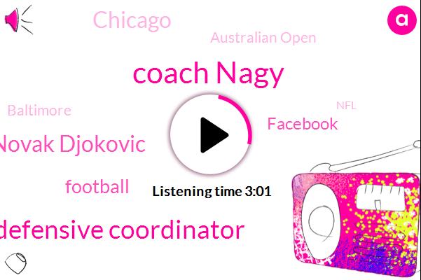 Coach Nagy,Defensive Coordinator,Novak Djokovic,Football,Facebook,Chicago,Australian Open,Baltimore,NFL,Naomi Osaka,Patrick Evita,Rafeal,Rafa,Six Years