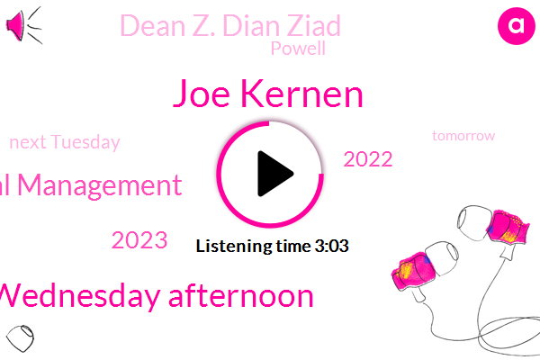 Joe Kernen,Wednesday Afternoon,Brookstone Capital Management,2023,2022,Dean Z. Dian Ziad,Powell,Next Tuesday,Tomorrow,Cnbc,Today,Greenspan,FED,End Of 2023,Couple Of Years Ago,70 Style,Wall Street,Chairman,One Time,ONE