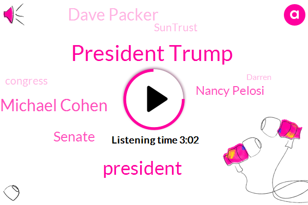 President Trump,Michael Cohen,Senate,Nancy Pelosi,ABC,Dave Packer,Suntrust,Congress,Darren,CBS,Cecilia Vega,Virginia State University,IRS,Florida,Elijah Cummings