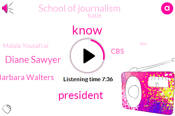 Diane Sawyer,President Trump,Barbara Walters,CBS,School Of Journalism,Katie,Malala Yousafzai,Walter Cronkite,Gosh,Twitter,Usta,Eleanor Roosevelt,United States,Nobel Prize,Asean,Saint Paul,Williams,Gail