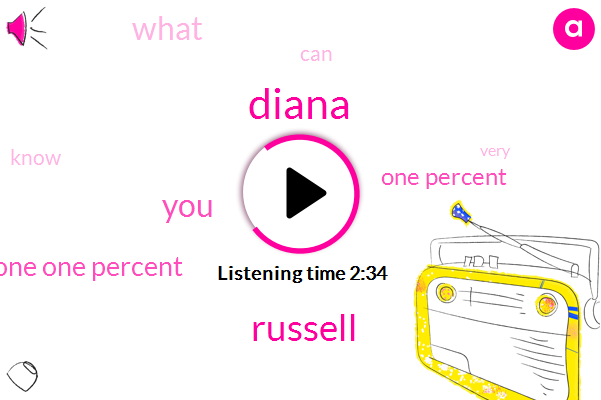 Diana,Russell,One One Percent,One Percent