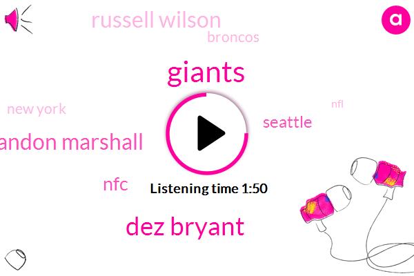 Dez Bryant,Giants,Brandon Marshall,NFC,Seattle,Russell Wilson,Broncos,New York,NFL,Chicago,Odell Beckham