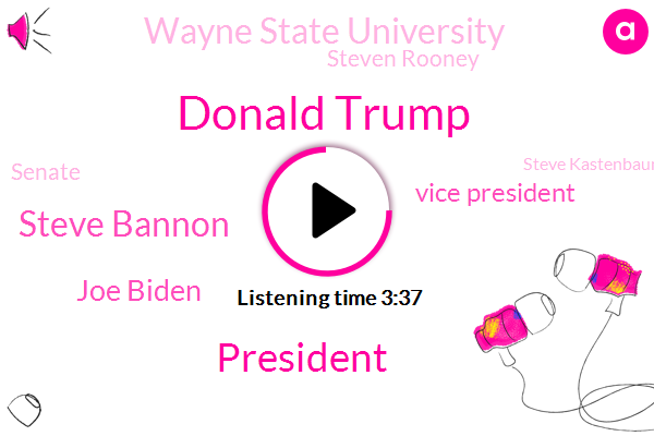 Donald Trump,President Trump,Steve Bannon,Joe Biden,Vice President,Wayne State University,Steven Rooney,Steve Kastenbaum,Emery Wilson,Senate,Senate House,Detroit High School,Detroit River,Detroit,Reverend Rooney,Marie Osborne,American Academy Of Pediatrics,Dr Anita Chandra,Lake Erie,Democratic Party