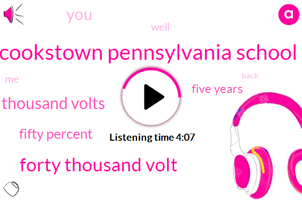 Cookstown Pennsylvania School,Forty Thousand Volt,Ten Thousand Volts,Fifty Percent,Five Years