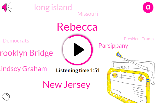 Rebecca,New Jersey,Brooklyn Brooklyn Bridge,Senator Lindsey Graham,Parsippany,Long Island,Missouri,Democrats,President Trump,CR,South Carolina,Senate,Ten Minutes