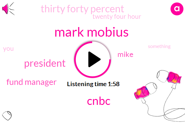 Mark Mobius,Cnbc,President Trump,Fund Manager,Mike,Thirty Forty Percent,Twenty Four Hour