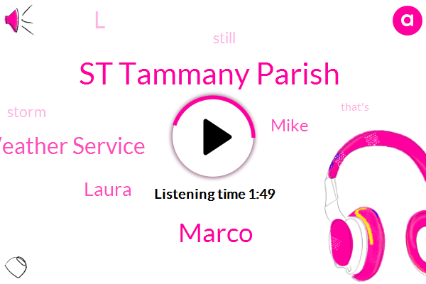 St Tammany Parish,Marco,National Weather Service,Laura,Mike,L