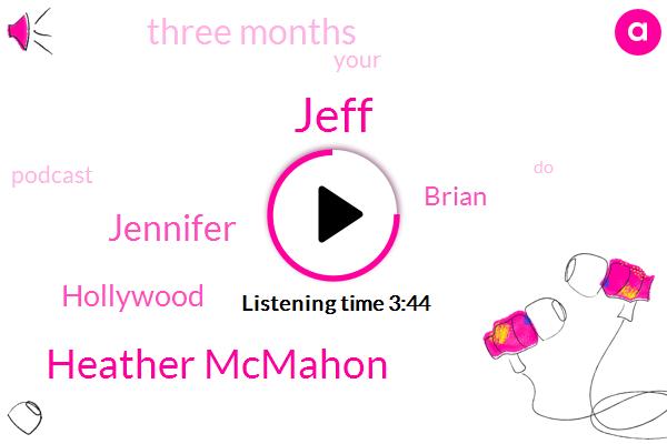 Jeff,Heather Mcmahon,Jennifer,Hollywood,Brian,Three Months