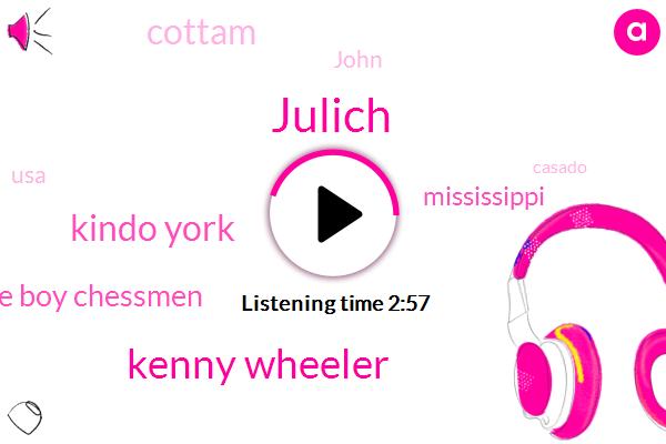 Julich,Kenny Wheeler,Kindo York,Jesse Boy Chessmen,Mississippi,Cottam,John,USA,Casado