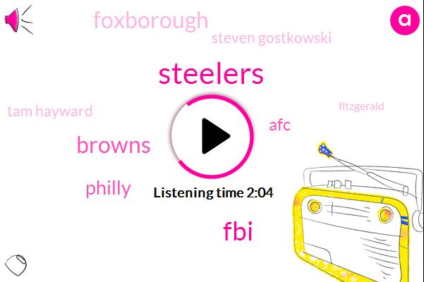Steelers,FBI,Browns,Philly,AFC,Foxborough,Steven Gostkowski,Tam Hayward,Fitzgerald,Patriots,Pittsburgh,Philadelphia,Detroit,Packers,Redskins,Chicago,Minnesota,Jets,Twenty Eight Yards,Twenty Three Yard,Three Minutes