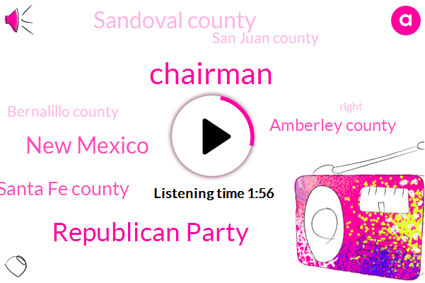 Chairman,Republican Party,New Mexico,Santa Fe County,Amberley County,Sandoval County,San Juan County,Bernalillo County