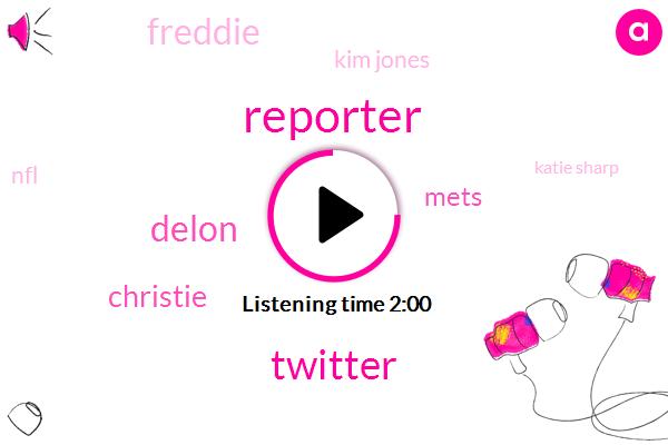 Reporter,Twitter,Delon,Christie,Mets,Freddie,Kim Jones,NFL,Katie Sharp,Yankees,Dellenbaugh,Brian Hoke