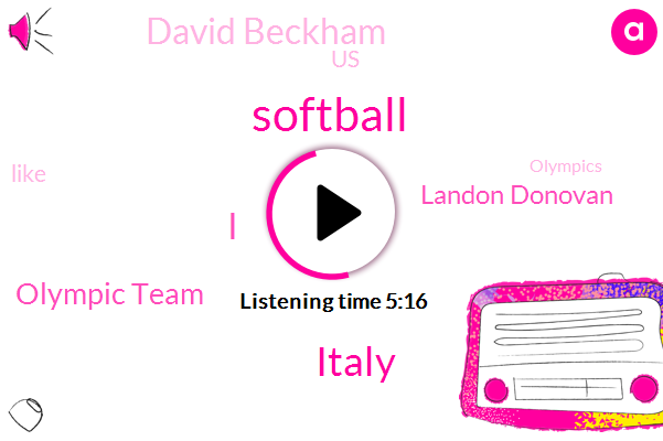 Softball,Italy,Olympic Team,Landon Donovan,David Beckham,United States,Olympics,Soccer,Europe,National League,Netherlands,Florida,Monica Habit,LA,Officer,Hugh,CBS,Usa Pride,ALI