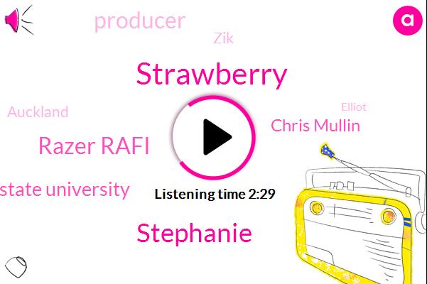 Strawberry,Stephanie,Razer Rafi,Virginia State University,Chris Mullin,Producer,ZIK,Auckland,Elliot,Three Days,Four Days,One Week