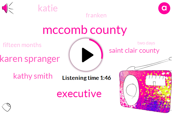 Mccomb County,Executive,Karen Spranger,Kathy Smith,Saint Clair County,Katie,Franken,Fifteen Months,Two Days