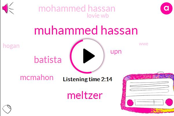 Muhammed Hassan,Meltzer,Batista,Mcmahon,UPN,Mohammed Hassan,Lovie Wb,Hogan,WWE,Espn,Three Weeks