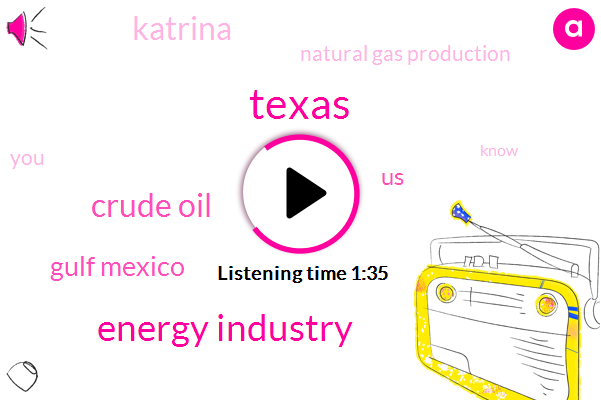 Texas,Energy Industry,Crude Oil,Gulf Mexico,United States,Katrina,Natural Gas Production