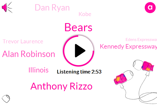 Bears,Anthony Rizzo,Alan Robinson,Illinois,Kennedy Expressway,Dan Ryan,Kobe,Trevor Laurence,Edens Expressway,Dan Ryan Lake Shore Drive,Stevenson Expressway,Indiana,Boilermakers,Will County,Lake Cook,Neil Fiorito,Baseball,Soldier Field,M. C Squared Energy,Ida B Wells