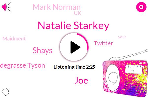 Natalie Starkey,JOE,Shays,Neil Degrasse Tyson,Twitter,Mark Norman,UK,Maidment