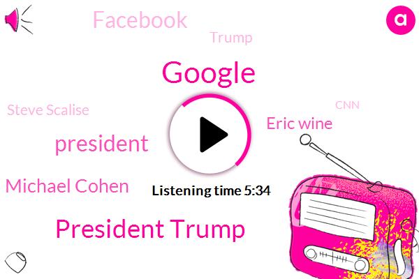 Google,President Trump,Michael Cohen,Eric Wine,Facebook,Donald Trump,Steve Scalise,CNN,Tommy John,Special Counsel,Robert Muller,United States,California,LOU,Sundar Pichai,Founder,Twitter,Congress,Us Attorney