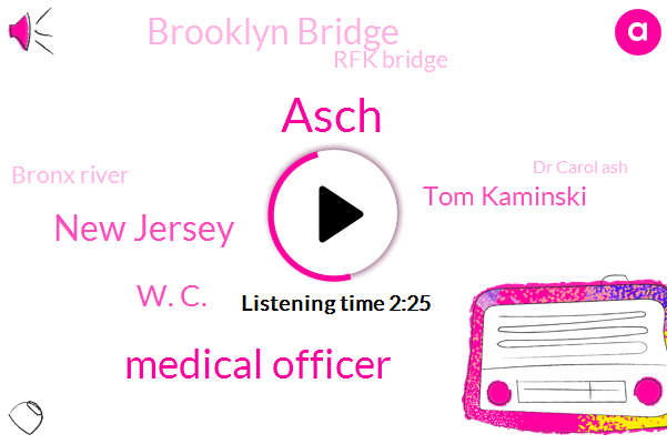 Asch,Medical Officer,New Jersey,W. C.,Tom Kaminski,Brooklyn Bridge,Rfk Bridge,Bronx River,Dr Carol Ash,CBS