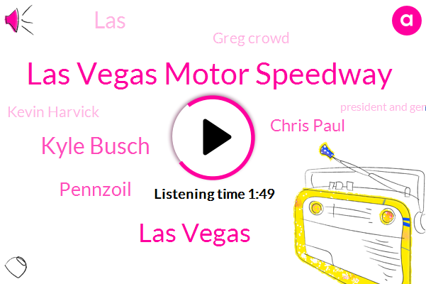 Las Vegas Motor Speedway,Las Vegas,Kyle Busch,Pennzoil,Chris Paul,LAS,Greg Crowd,Kevin Harvick,President And General Manager,Alex Bowman,Doug,Joey