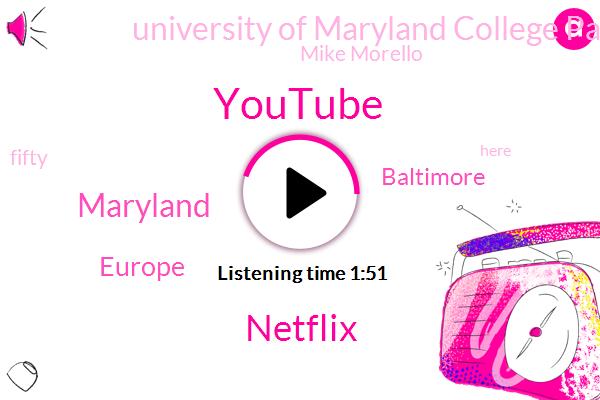 Youtube,Netflix,Europe,Maryland,Baltimore,University Of Maryland College Park Johns Hopkins University,Mike Morello