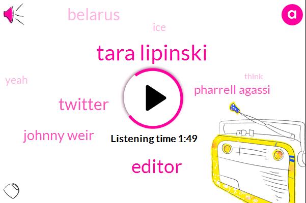 Tara Lipinski,Editor,Twitter,Johnny Weir,Pharrell Agassi,Belarus