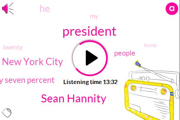 Sean Hannity,New York City,President Trump,Twenty Seven Percent