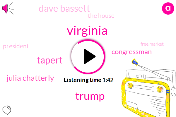 Virginia,Donald Trump,Tapert,Bloomberg,Julia Chatterly,Congressman,Dave Bassett,The House,President Trump,Free Market,Midwestern,Thirty Years,24 Hours