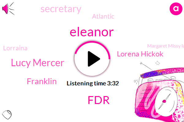 FDR,Eleanor,Lucy Mercer,Lorena Hickok,Franklin,Secretary,Atlantic,Lorraina,Margaret Missy La,CR,Mary,Norway,Lorraine,Thirty Years,Twenty Year