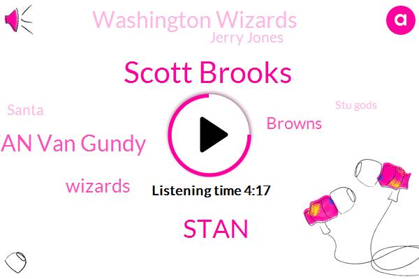 Scott Brooks,Stan Van Gundy,Wizards,Browns,Washington Wizards,Stan,Jerry Jones,Santa,Stu Gods,Baker,Sham,Hugh Jackson,Obama Jimmy,Lorenzo,Danny,Ten Years,Sixty Five Percent,Four Minutes