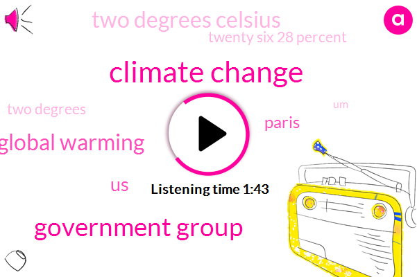 Climate Change,Government Group,Global Warming,United States,Paris,Two Degrees Celsius,Twenty Six 28 Percent,Two Degrees