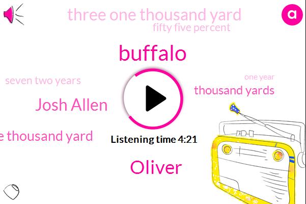 Oliver,Buffalo,Josh Allen,Three Thousand Yard,Thousand Yards,Three One Thousand Yard,Fifty Five Percent,Seven Two Years,One Year