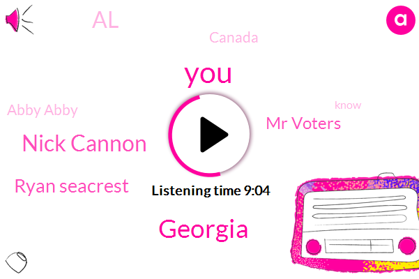 Georgia,Nick Cannon,Ryan Seacrest,Mr Voters,AL,Canada,Abby Abby,League,Water Komo,Man Hotel Galon,Vlad,Giles,Jeff Rosenthal,Asia,Abraham,Museum House Eric,Museum House Air