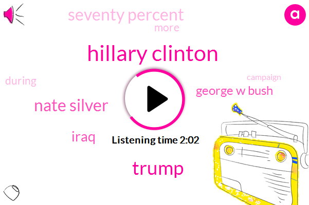 Hillary Clinton,Donald Trump,Nate Silver,Iraq,George W Bush,Seventy Percent