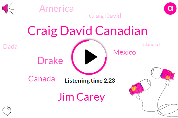 Craig David Canadian,Jim Carey,Drake,Canada,Mexico,America,Craig David,Dada,Claudia I,Clary,Twenty Four Years,Thirty Percent