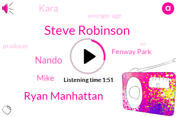 Steve Robinson,Ryan Manhattan,Nando,Mike,Fenway Park,Kara,Younger Age,Producer