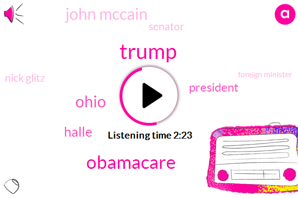 Donald Trump,Obamacare,Ohio,Halle,President Trump,John Mccain,Senator,Nick Glitz,Foreign Minister,Italy,Navy,Saint Peter,Senate,Jackie Quinn,Malcolm Turnbull,Prime Minister,Commissioner,Julie Bishop,United Nations,Australia,Francis,Sixty Years