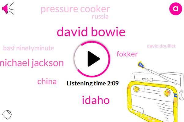 David Bowie,Idaho,Michael Jackson,China,Fokker,Pressure Cooker,Russia,Basf Ninetyminute,David Douillet,Heroin,DRU,Joslyn Jonathan,Ninetyminute,One Bit