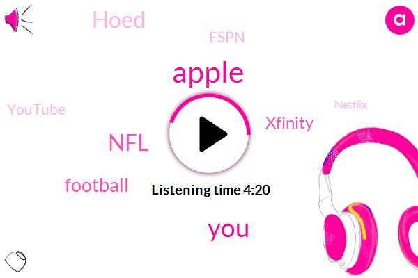 Apple,NFL,Football,Xfinity,Hoed,Espn,Youtube,Netflix,NBC,Treasury,Amazon,Hundred Percent
