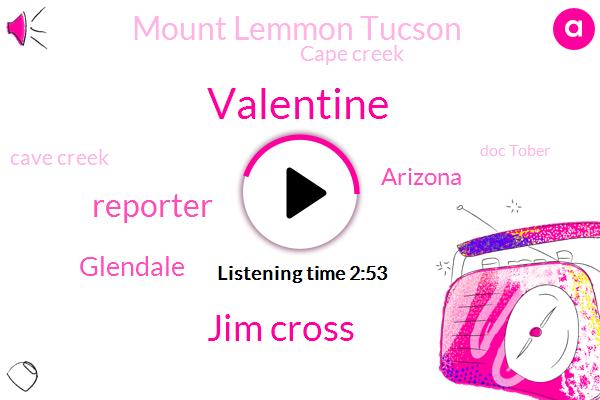 Valentine,Jim Cross,Reporter,Glendale,Arizona,Ktar,Mount Lemmon Tucson,Cape Creek,Cave Creek,Doc Tober,Pacific Ocean,Flagstaff,Two Inches,Ten Thirty Percent,Twenty Four Hours,Fifteen Minutes,Five Inches,Two Feet