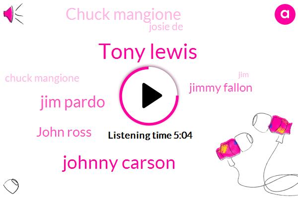Tony Lewis,Johnny Carson,Jim Pardo,John Ross,Jimmy Fallon,Chuck Mangione,Josie De,JIM,Jodi,Anne Hathaway,Five Instrumentals,Jimmy Pardo,Today,Rick,John,Twenty Minutes,Tonight