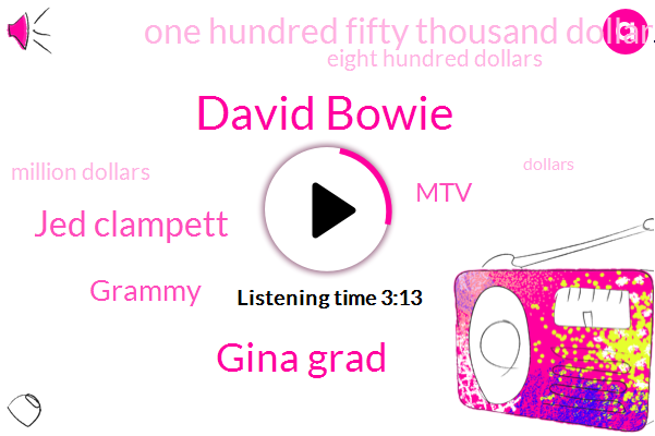 David Bowie,Gina Grad,Jed Clampett,Grammy,MTV,One Hundred Fifty Thousand Dollars,Eight Hundred Dollars,Million Dollars