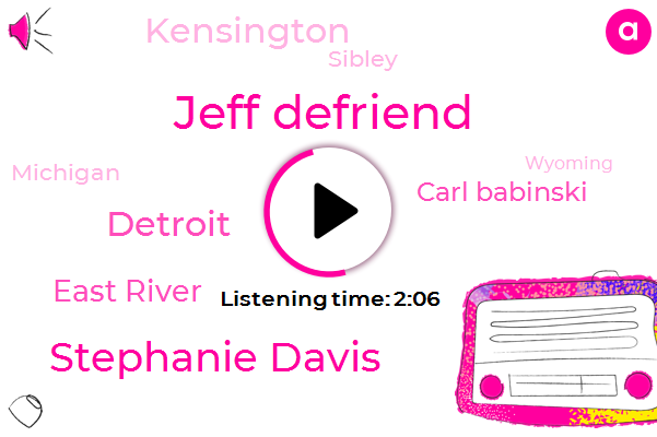 Jeff Defriend,Stephanie Davis,Detroit,East River,Carl Babinski,Kensington,Sibley,Michigan,Wyoming,Twenty Four Hour,Ten Minutes,Twenty Year