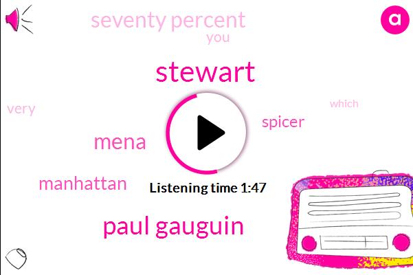 Stewart,Paul Gauguin,Mena,Manhattan,Spicer,Seventy Percent