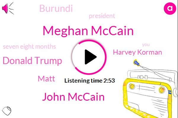 Meghan Mccain,John Mccain,Donald Trump,Matt,Harvey Korman,Burundi,President Trump,Seven Eight Months