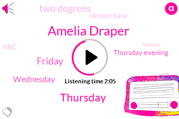 Amelia Draper,Thursday,Friday,Wednesday,Thursday Evening,Two Degrees,Herbert Bank,NBC,Millions,Mid Forties,Prince George's County School,Tonight,LIN,Knoxville,Austin East Magnet High School,Tomorrow,Fort Belvoir, Virginia 51,Two Students,18 52,Tennessee