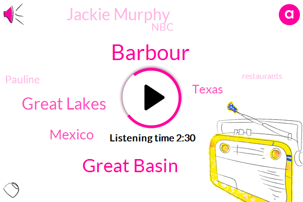 Barbour,Great Basin,Great Lakes,Mexico,Texas,Jackie Murphy,NBC,Pauline